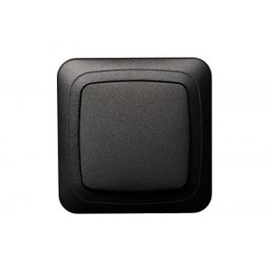 Выключатель 1-клавишный, без рамки, ALFA черный