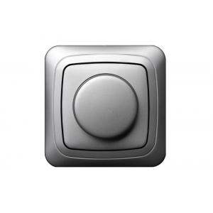 Поворотный диммер (светорeгулятор) 400W, без рамки, ALFA металлик