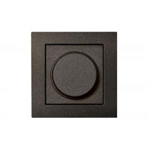 Диммер (светорeгулятор) поворотный 600W, без рамки, EPSILON антрацит