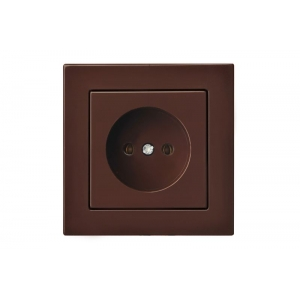Розетка, без рамки, EPSILON коричневый