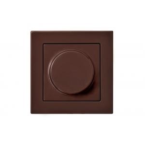 Диммер (светорeгулятор) поворотный 100W lead edge, без рамки, EPSILON коричневый