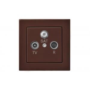 Розетка TV+R+SAT оконечная, без рамки, EPSILON коричневый