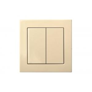 Выключатель 2-клавишный, пружинные контакты, led-подсветка, без рамки, EPSILON песочный