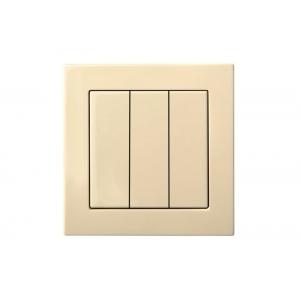 Выключатель 3-клавишный, без рамки, EPSILON песочный