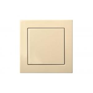 Выключатель 1-клавишный, пружинные контакты, led-подсветка, без рамки, EPSILON песочный