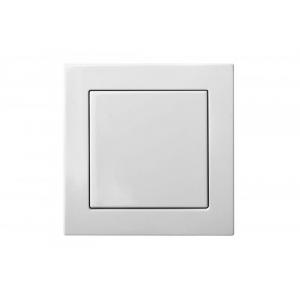 Выключатель 1-клавишный, пружинные контакты, led-подсветка, без рамки, EPSILON белый