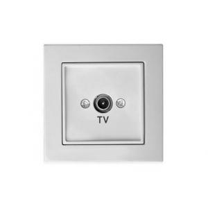 Розетка для ТВ проходная 12 dB, без рамки, EPSILON белый