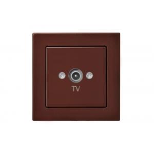 Розетка для ТВ оконечная, без рамки, EPSILON коричневый