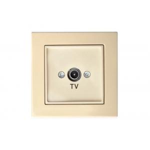 Розетка для ТВ проходная 12 dB, без рамки, EPSILON песочный