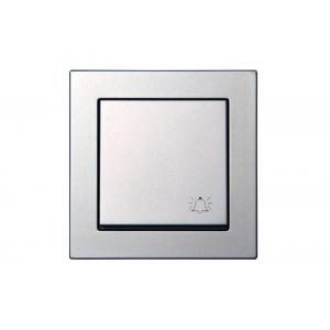 Кнопка звонка, пружинные контакты, без рамки, EPSILON металлик
