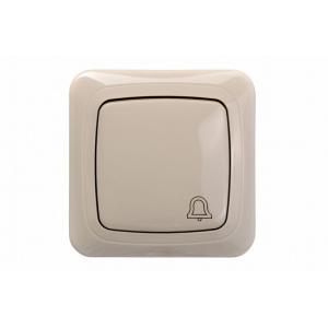 Кнопка звонка, с рамкой, ALFA песочный