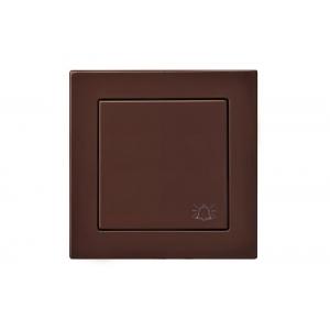 Кнопка звонка, пружинные контакты, без рамки, EPSILON коричневый