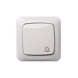 Кнопка звонка, с рамкой, ALFA белый