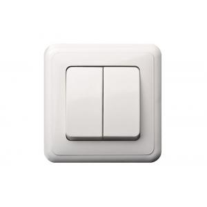 Выключатель 2-клавишный импульсный, без рамки, DELTA белый