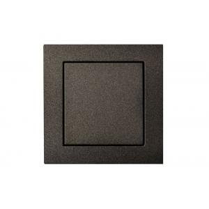 Выключатель 1-клавишный, led-подсветка, без рамки, EPSILON антрацит
