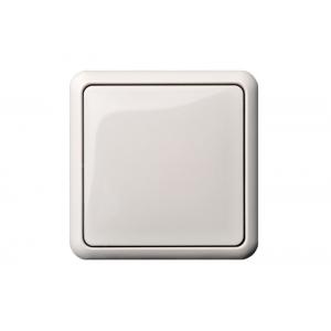 Выключатель 1-клавишный, без рамки, GAMA белый