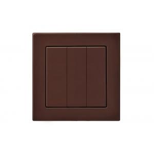 Выключатель 3-клавишный, без рамки, EPSILON коричневый