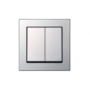 Выключатель для жалюзи, без рамки, EPSILON металлик