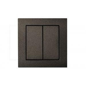 Выключатель 2-клавишный импульсный, пружинные контакты, без рамки, EPSILON антрацит