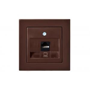 Розетка компьютерная, без рамки, EPSILON коричневый