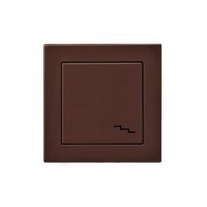 Переключатель 1-клавишный, без рамки, EPSILON коричневый