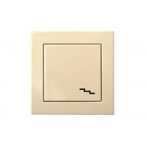 Переключатель 1-клавишный, пружинные контакты, без рамки, EPSILON песочный