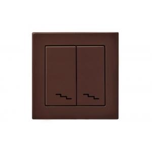 Переключатель 2-клавишный, без рамки, EPSILON коричневый