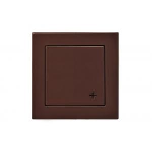 Переключатель крестовой, без рамки, EPSILON коричневый