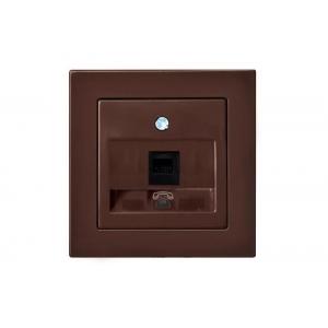 Розетка телефонная, без рамки, EPSILON коричневый