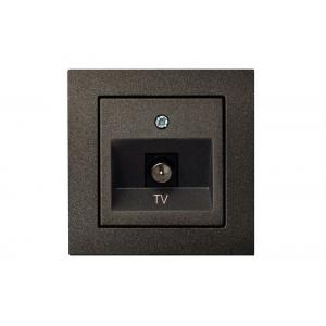 Розетка для ТВ, без рамки, EPSILON антрацит