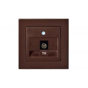 Розетка для ТВ, без рамки, EPSILON коричневый