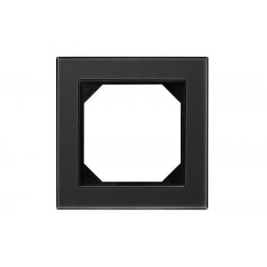 Рамка 1-местная, EPSILON стекло черное матовое (в пленке)