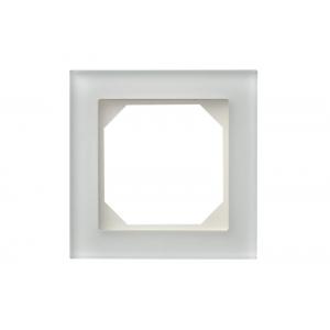 Рамка 1-местная, EPSILON стекло белое матовое