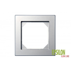 Рамка 1–местная SlimLine, EPSILON металлик