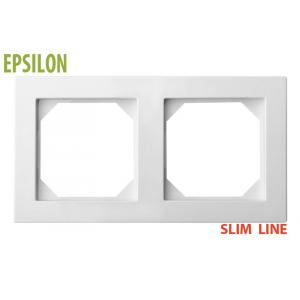 Рамка 2–местная SlimLine, EPSILON белый
