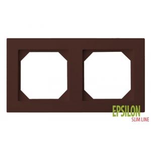 Рамка 2–местная SlimLine, EPSILON коричневый