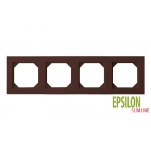 Рамка 4–местная SlimLine, EPSILON коричневый