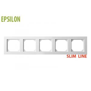 Рамка 5–местная SlimLine, EPSILON белый