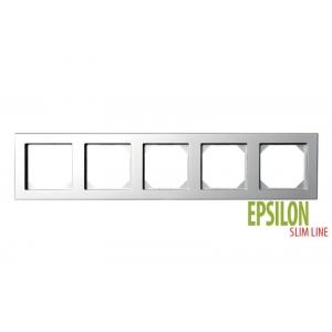 Рамка 5–местная SlimLine, EPSILON металлик