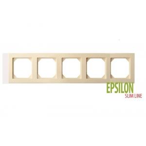 Рамка 5–местная SlimLine, EPSILON песочный