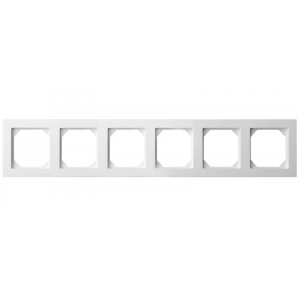 Рамка 6-местная, EPSILON белый