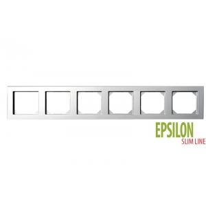 Рамка 6–местная SlimLine, EPSILON металлик