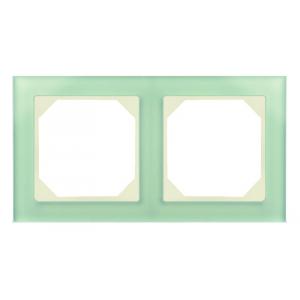 Рамка 2-местная, EPSILON стекло натуральное матовое