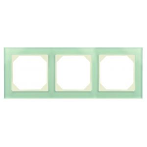 Рамка 3-местная, EPSILON стекло натуральное матовое