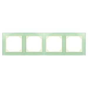 Рамка 4-местная, EPSILON стекло натуральное матовое (в пленке)