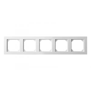 Рамка 5-местная, EPSILON белый