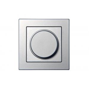 Диммер (светорeгулятор) поворотный 100W, без рамки, EPSILON металлик