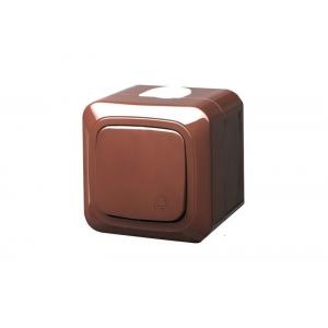 Кнопка звонка, IP44, открытого монтажа, HERMI коричневый