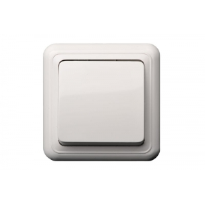 Выключатель 1-клавишный, открытого монтажа, DELTA белый