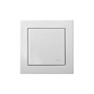 Комплект беспроводного управления освещением, с рамкой, EPSILON белый